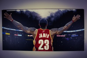 Look. At. This. I'm not even a Lebron fan, but I appreciate the beauty of this painting.